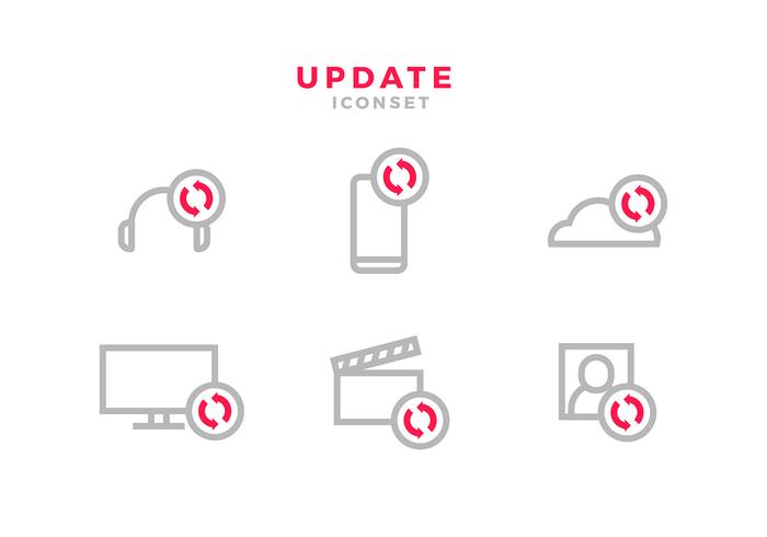 Update Icon Red Free Vector