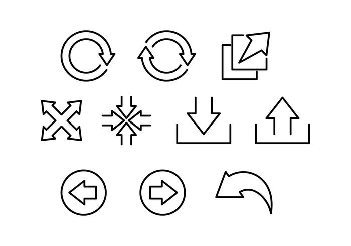 Free Interface Arrow Line Icon Vector