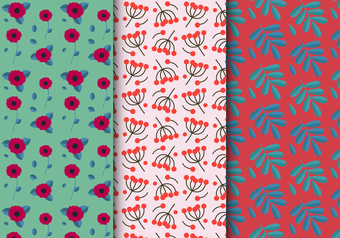 Free Bright Floral Pattern