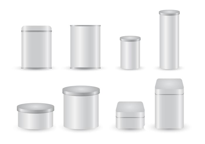 Free Tin Box Template Vector Collection