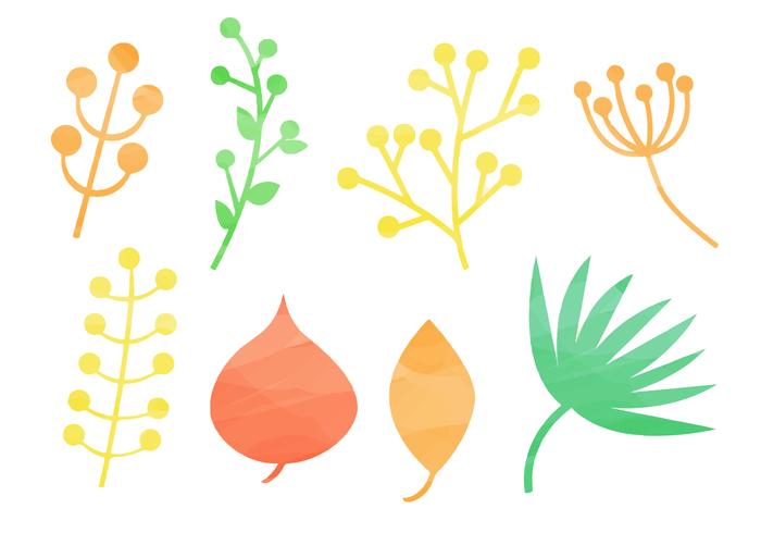 Free Watercolor Natural Elements