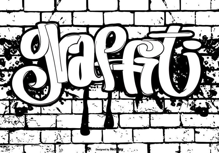 Ilustração de estilo Graffiti