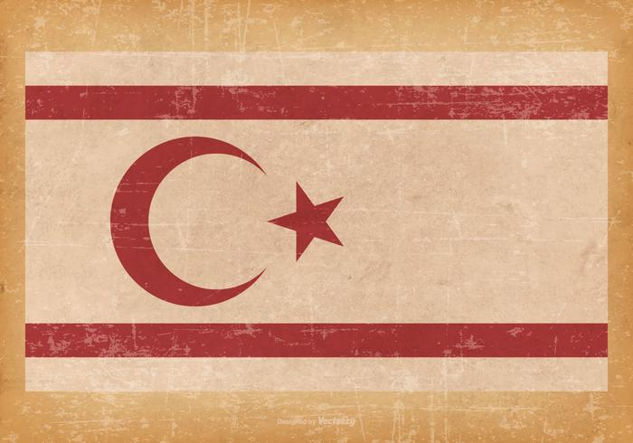 Grunge Flag of Turkish Republic of Northern Cyprus