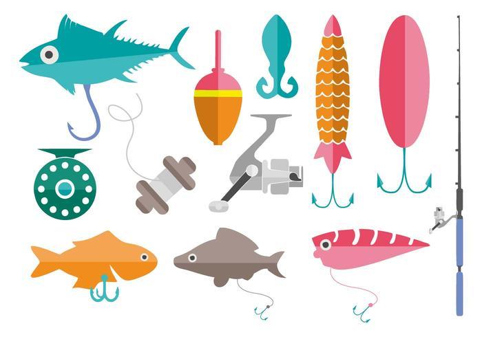 Vettore libero degli strumenti di pesca