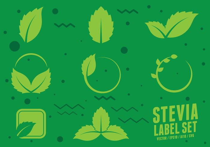Stevia Natural Sweetener Icons vector