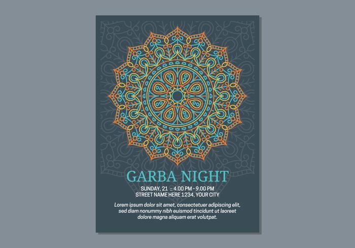 Modèle d'affiche de Garba