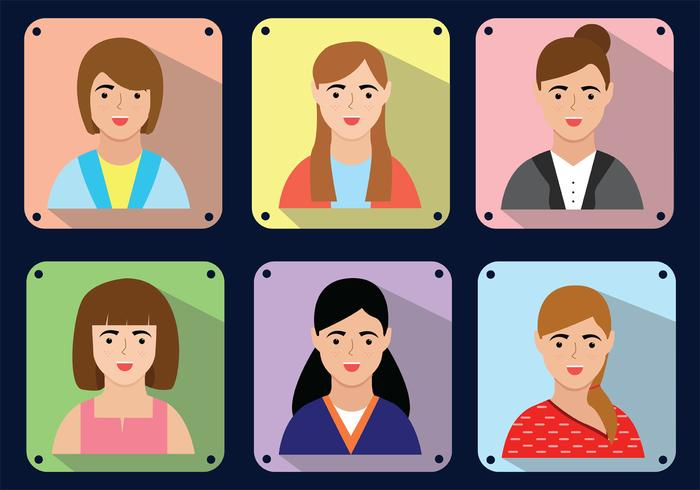 Woman In Frame Vector Pack