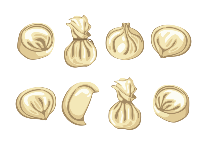 Dumplings Ikoner Vector