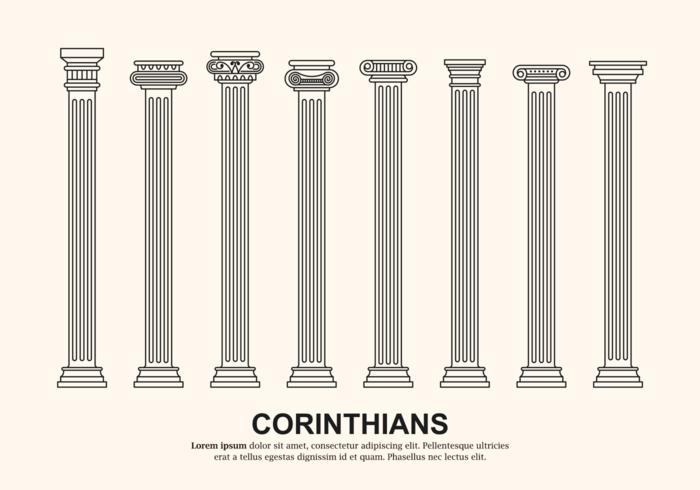 Vector des colonnes corinthiennes