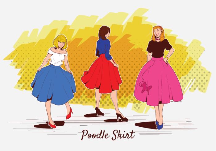 Poodle Skirt Vector Illustration