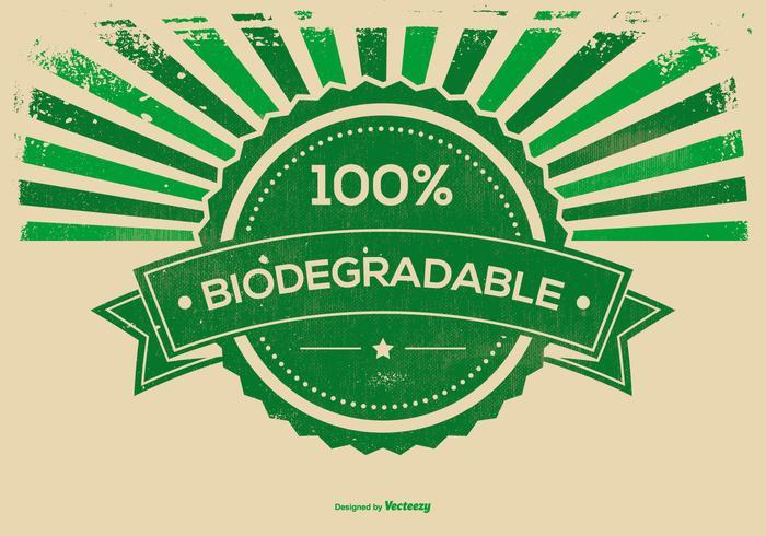Retro illustrazione biodegradabile del fondo di lerciume