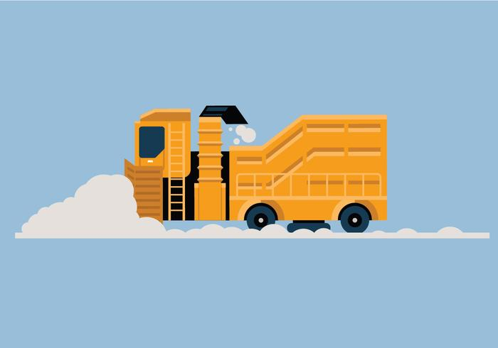 Schnee Gebläse Vektor-Illustration