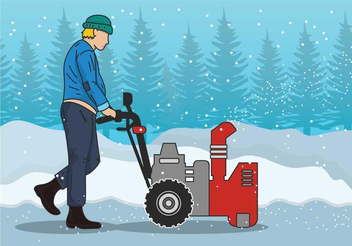 Snow soplador ilustración vectorial