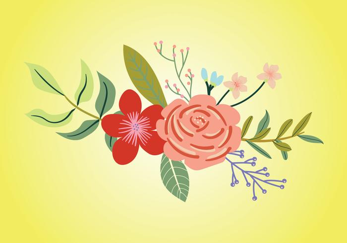 Rhododendron Bouquet Vector