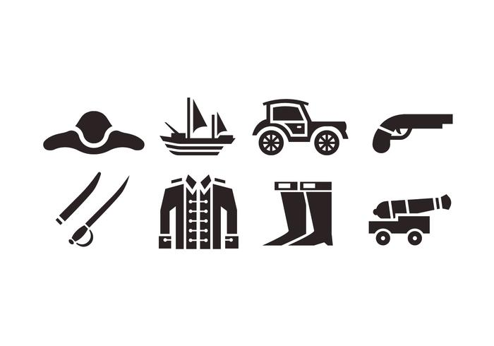 Colonial vector icons