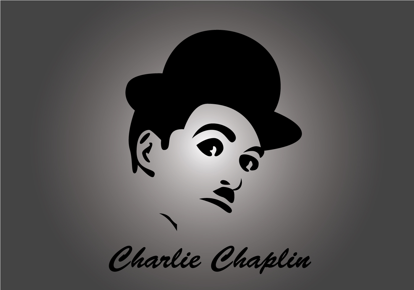 charlie chaplin download free vector art stock graphics. Black Bedroom Furniture Sets. Home Design Ideas