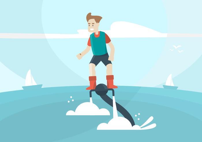 Water jet Illustration