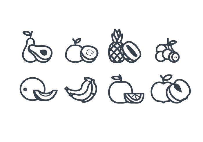 Icône vecteur fruits