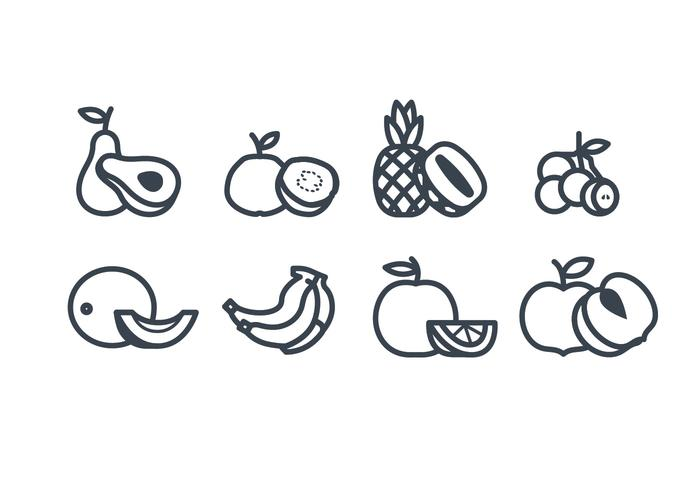 Vruchten vector icoon