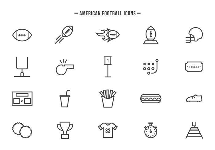 Gratis Amerikaanse voetbalvectoren