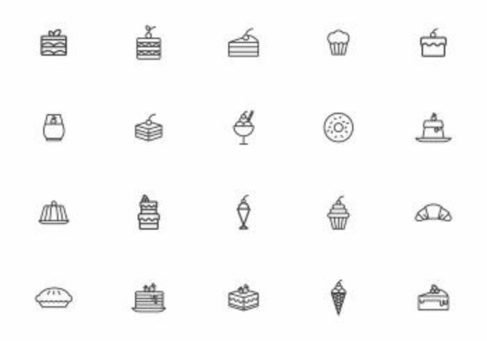 Free desserts vetores