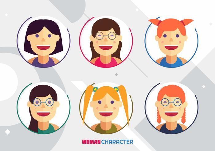 Woman Character Avatar Vectors