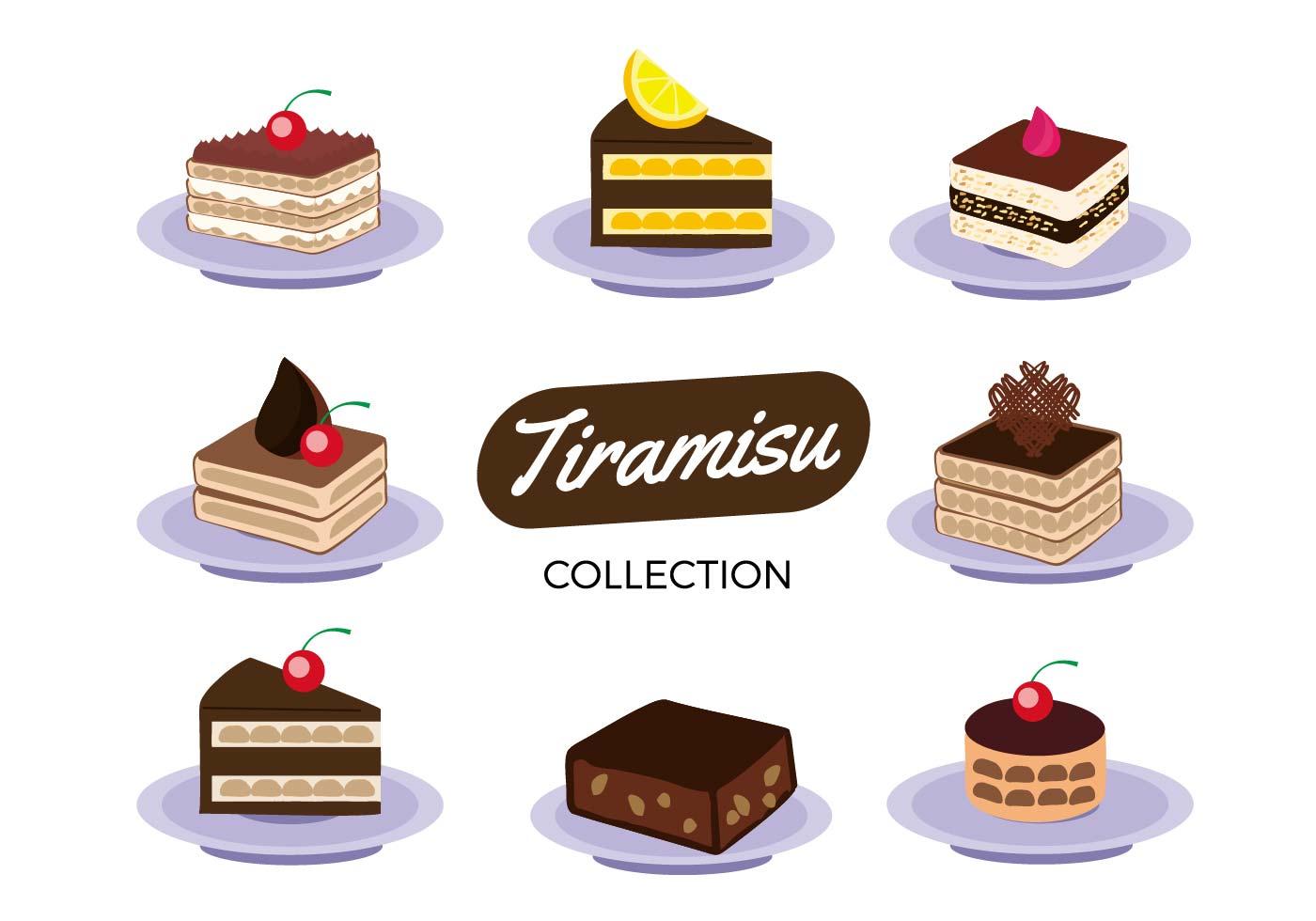 Free Tiramisu Cake Collection Vector Download Free