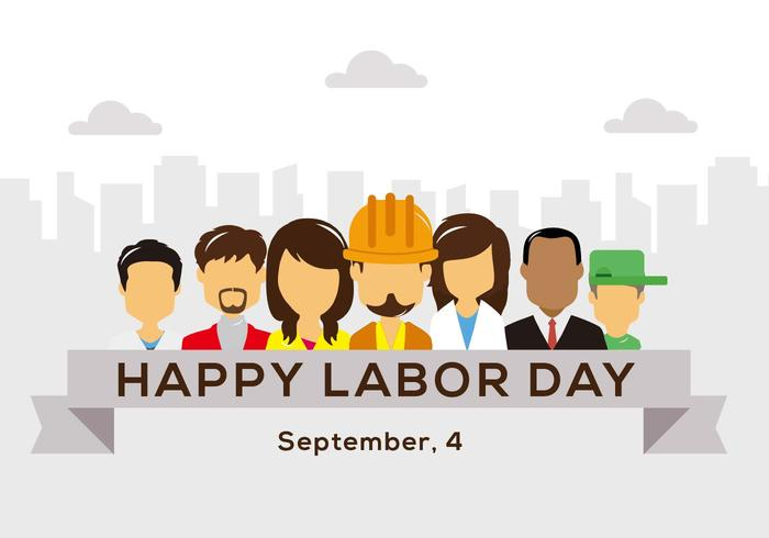Gratis Glad Labour Day Vector