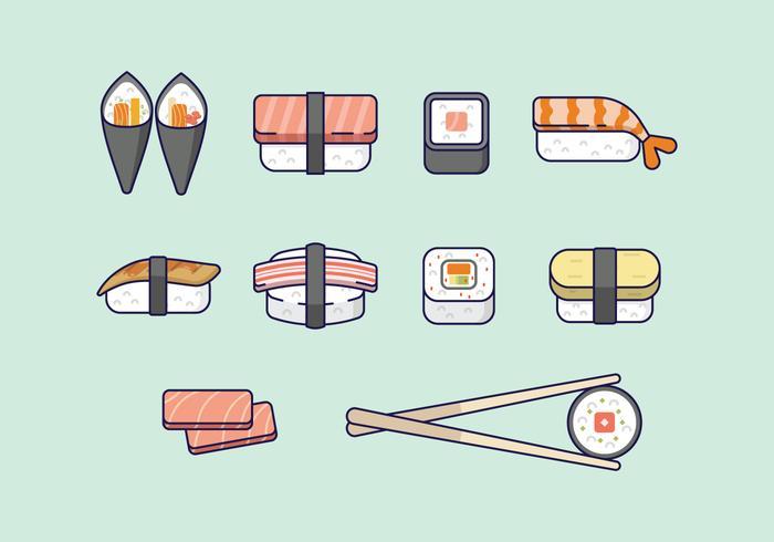 Livre Sushi ícones