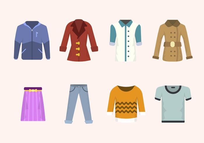 Vectores ropa plana