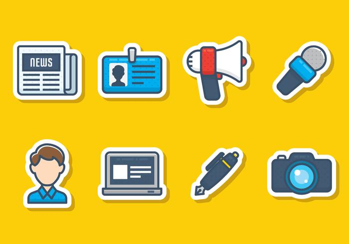 Journalistieke Icon Set