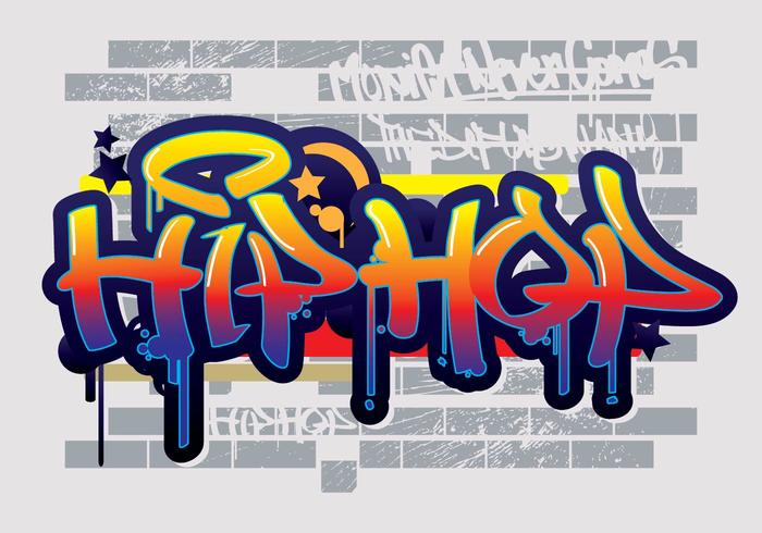 Hip Hop Graffiti Text Vektor