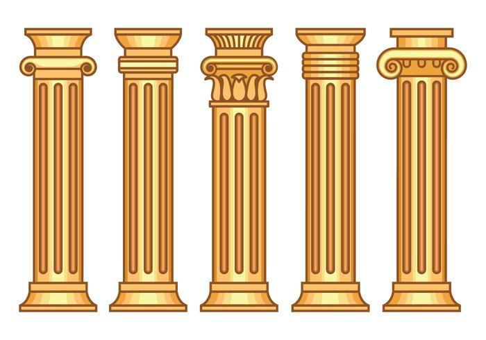 Korintiska vektorer Set