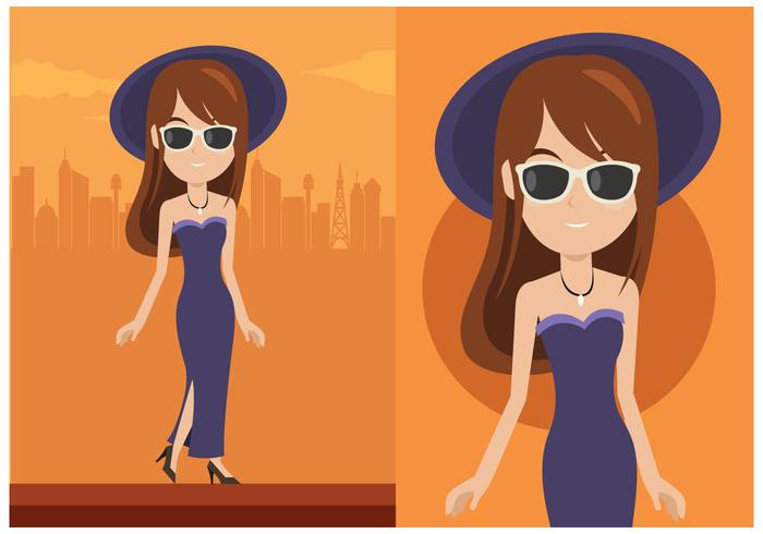 Glamorosa Mujer Vector