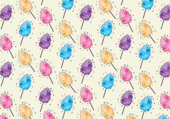 Candy Floss Pattern Vector
