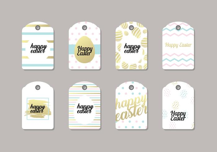 Trendy Easter Gift Tag Vector