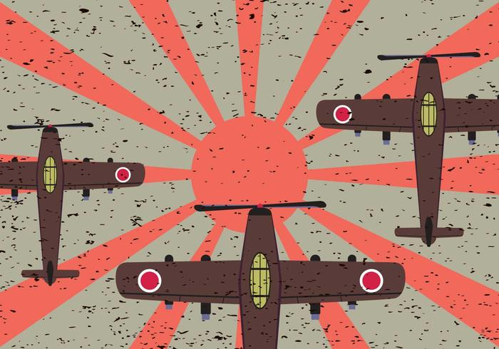 Free Japanese Fighter Plane Vector