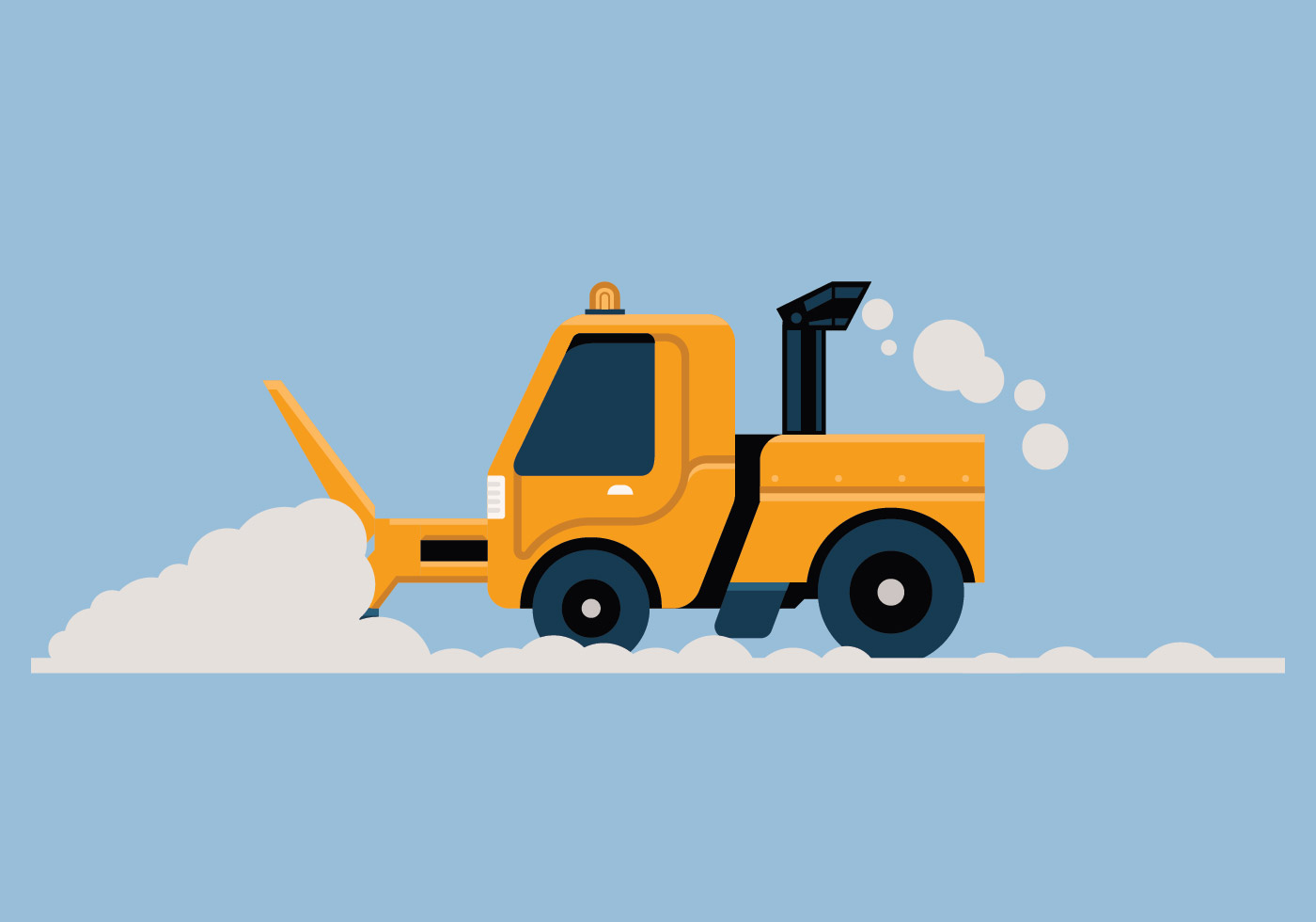 Snow Blower Vector Illustration Download Free Vectors
