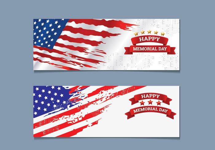Collection Memorial Day Banner vecteur