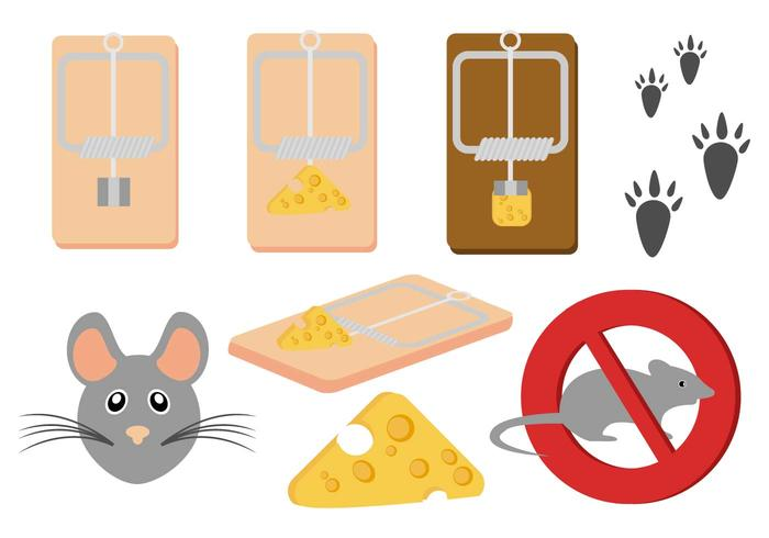 Free Mouse and Mousetrap Vector