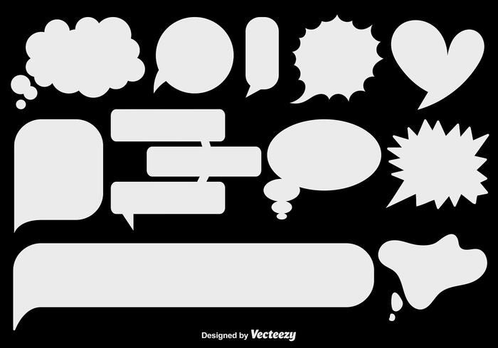 Vector plano burbujas de discurso