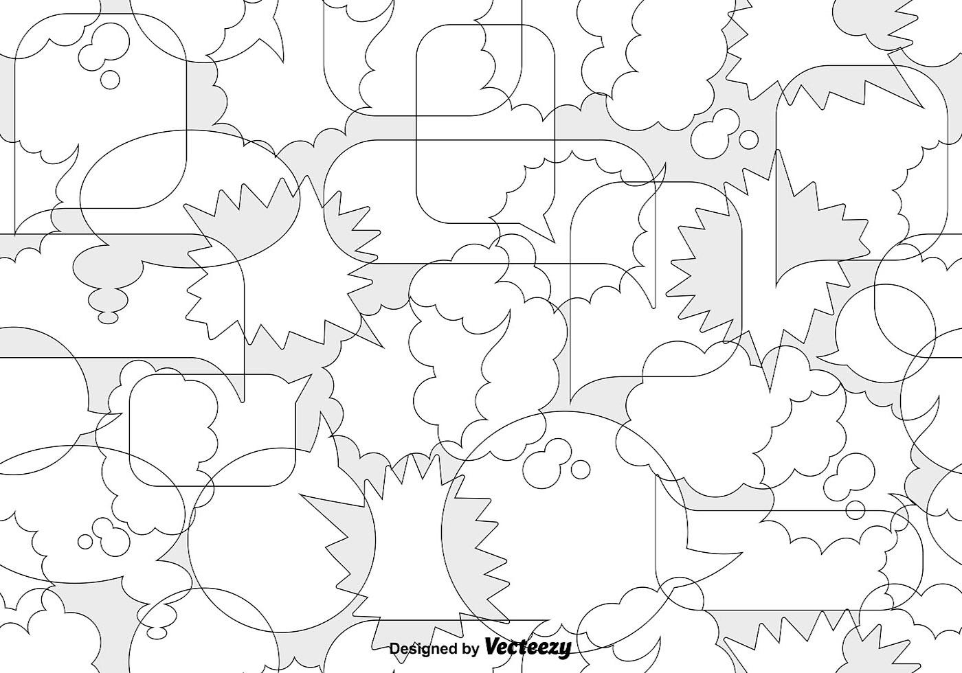 Vector Speech Bubbles Seamless Pattern - Download Free Vector Art