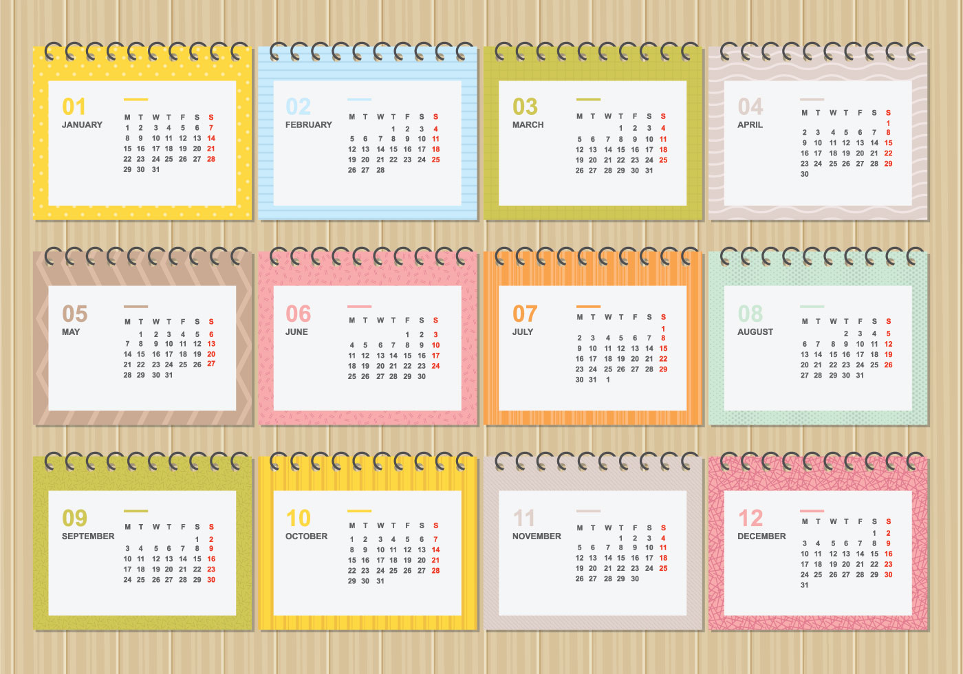 2018 calendar free vector art 2111 free downloads