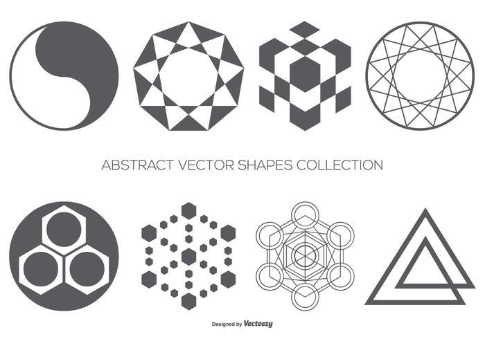 Colección abstracta de formas vectoriales