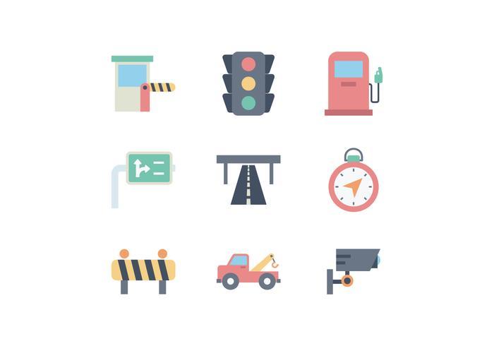 Free Road Traffic Icon Set vector