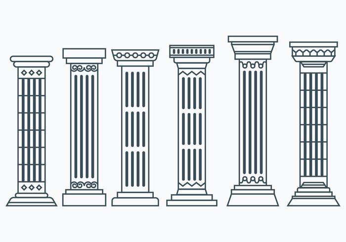 Set of Corinthian Columns