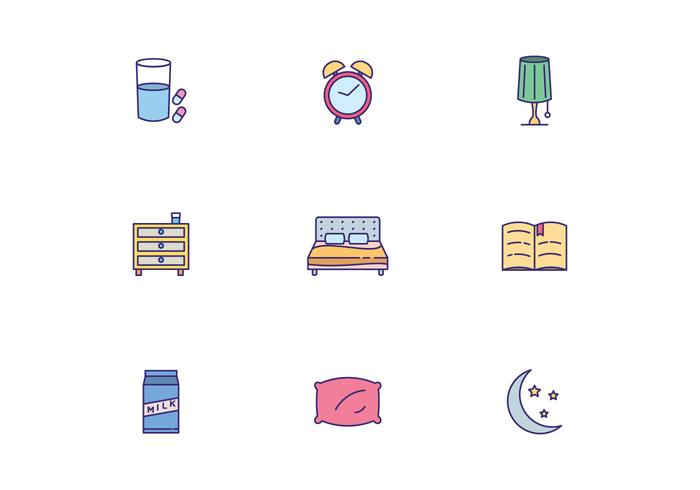 Colorful Sleeping Icons