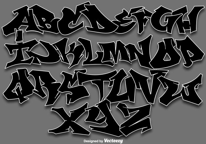 Vector Graffiti Alphabet Letters