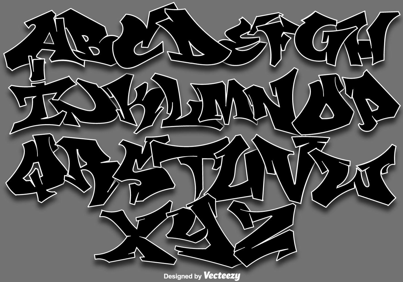 Vektor graffiti alfabet letters ladda ner gratis - Grafiti alpabet ...