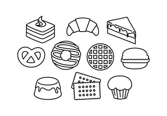 Free Dessert Line Icon Vector